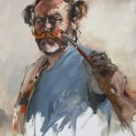 Autoportrait aux moustaches -2010