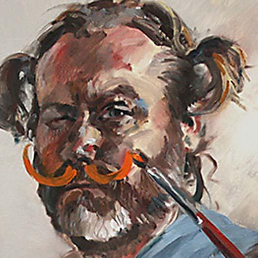 Autoportrait aux moustaches carré
