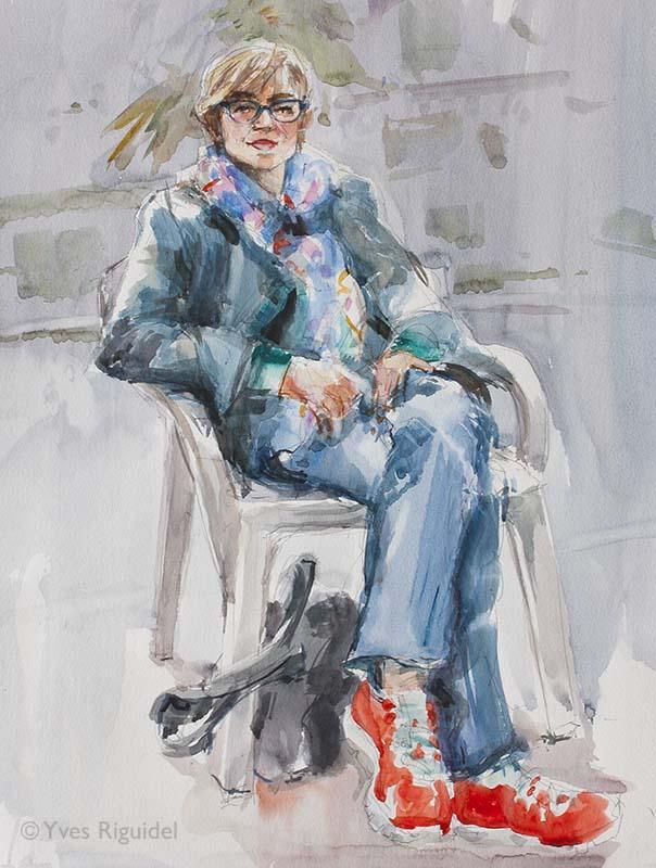0232 Portrait de Cathy à Cambremer BD
