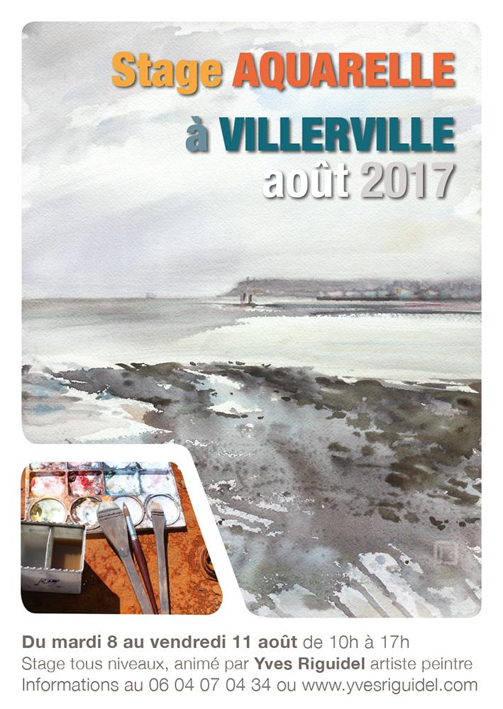 affiche stage aquarelle BD - 2017